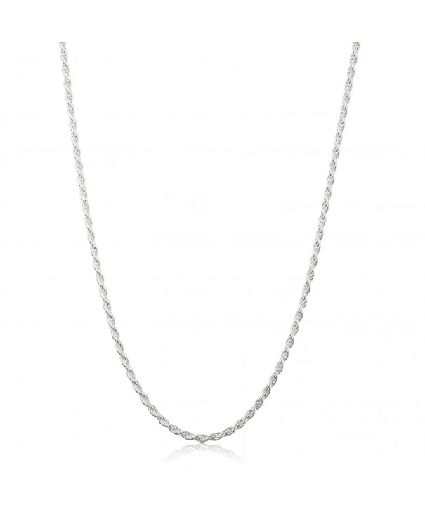 Sterling Diamond Cut Twister Necklace Jewelry
