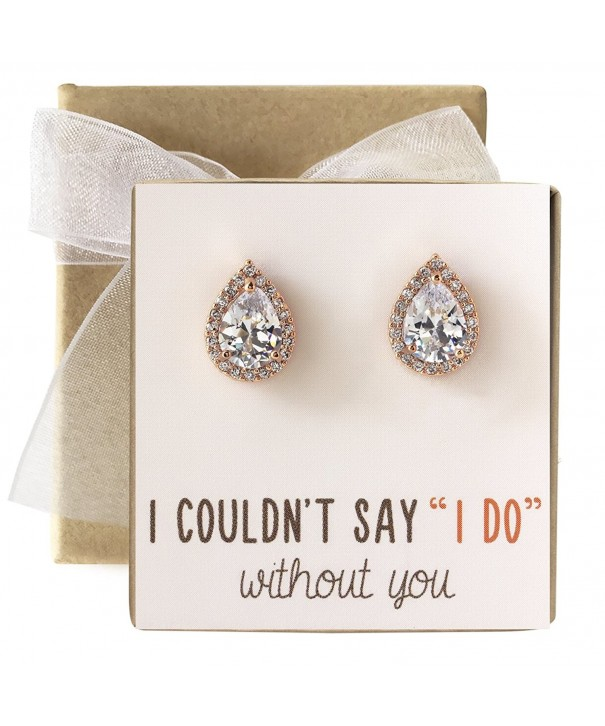 Cubic Zirconia Bridesmaid Earrings Bridal
