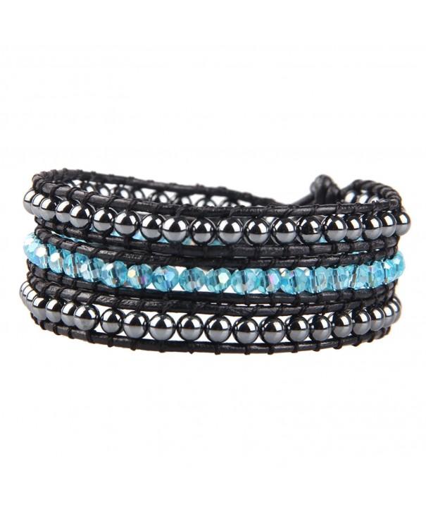 KELITCH Crystal Hematite Bracelet Fashion