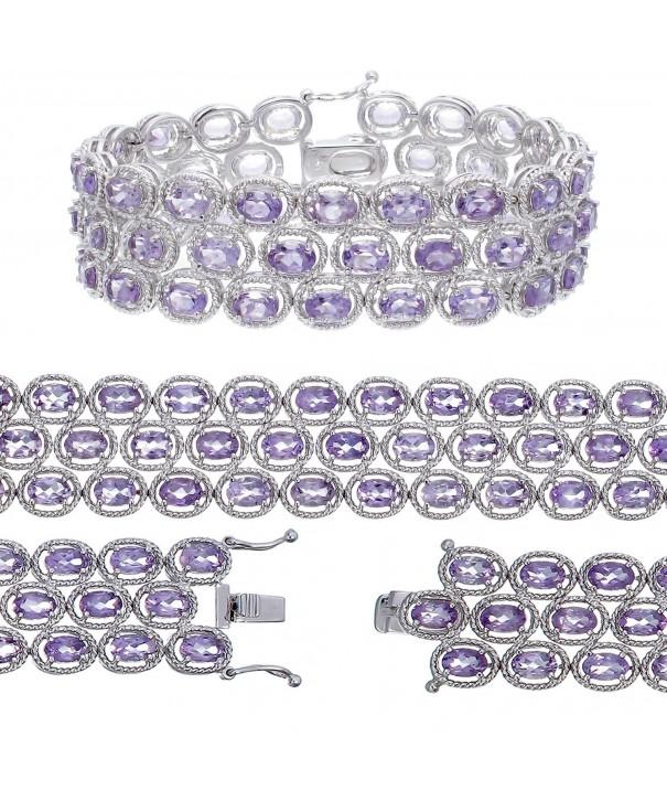 Vir Jewels B2305AABR Amethyst Bracelet