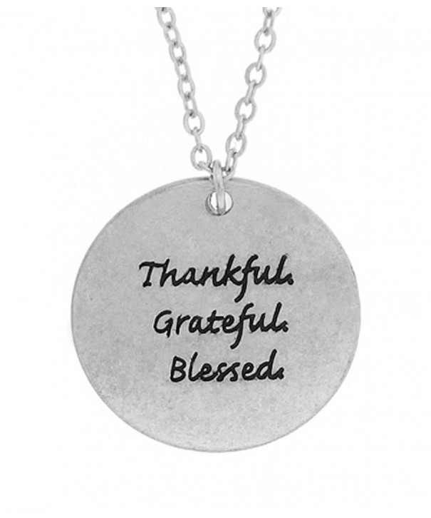 Thankful Grateful Necklace Shoppingbuyfaith silver plated base