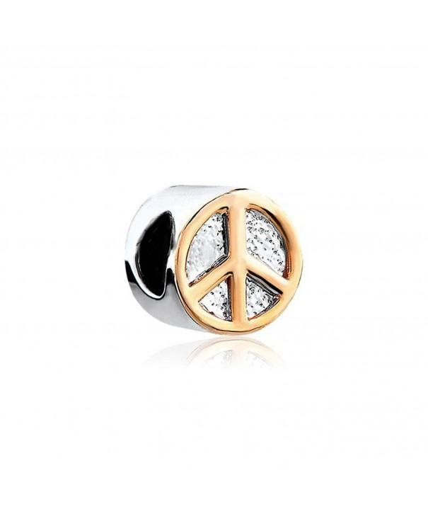 Peace Symbol Charms Snake Bracelet