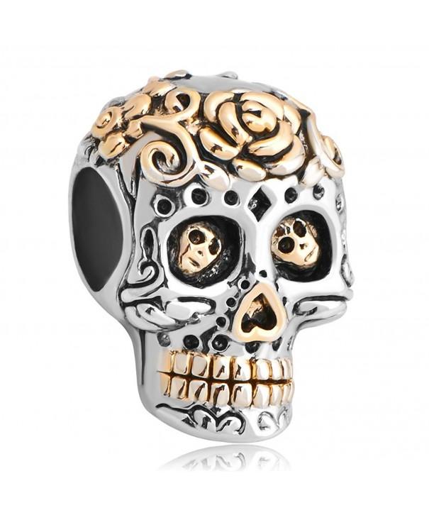 LuckyJewelry Halloween chamilia Bracelets Skeleton