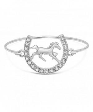 SENFAI Crystal Snaffle Bracelet Jewelry