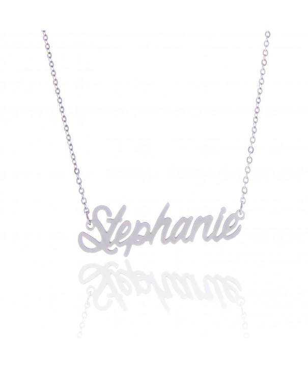 AOLO Minimalist Personalize Necklace Stephanie