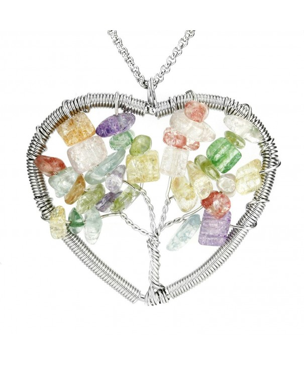 Aprilsky Eternal Gemstone Necklace Stainless
