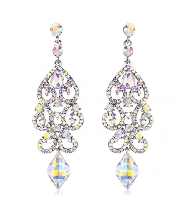 Janefashions Austrian Rhinestone Chandelier Earrings