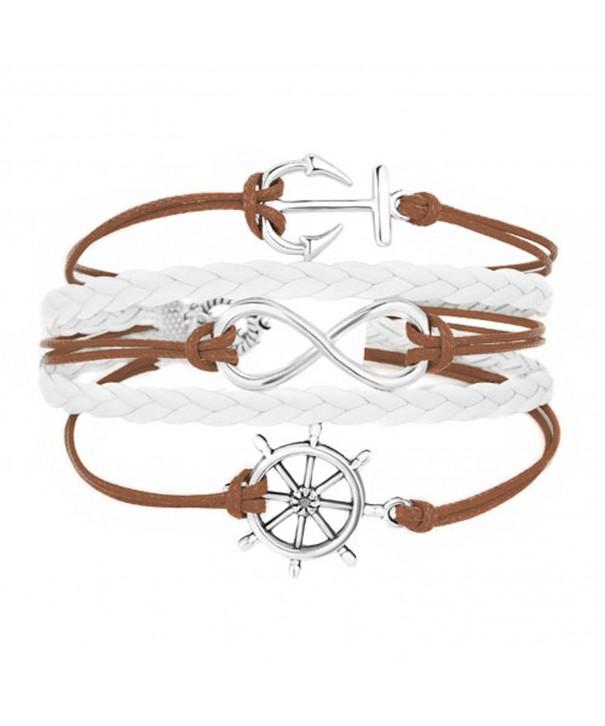 LilyJewelry Infinity Braided Wristband Bracelets