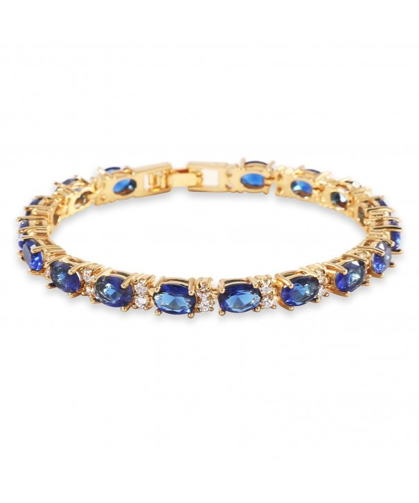 GULICX Bracelet Sparkling Sapphire Zirconia