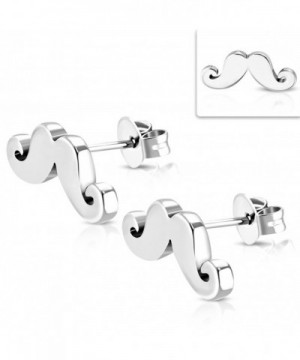Stainless Steel Mustache Beard Earrings
