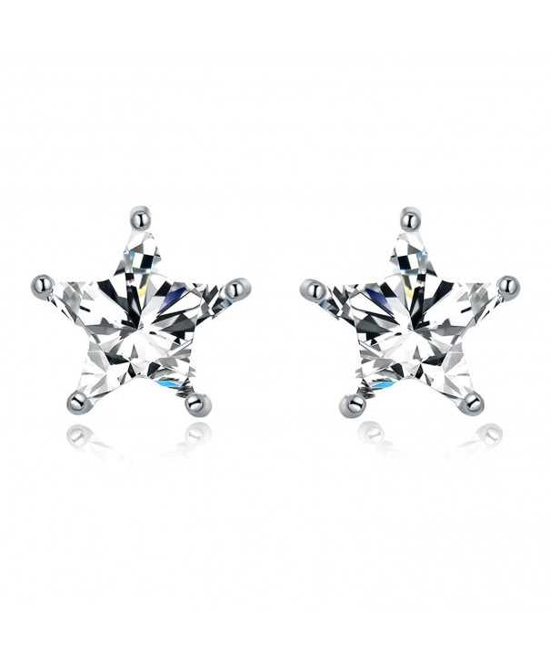 Sparkling Earrings Sterling Zirconia Eternity