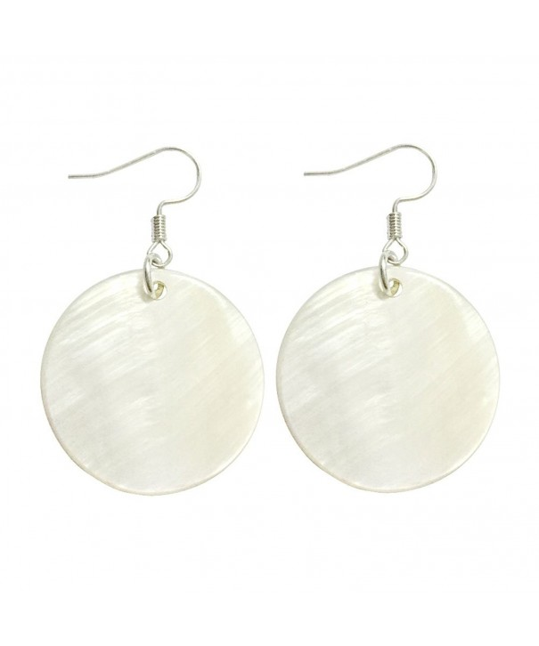 Natural Silver Dangle Earrings Jewelry