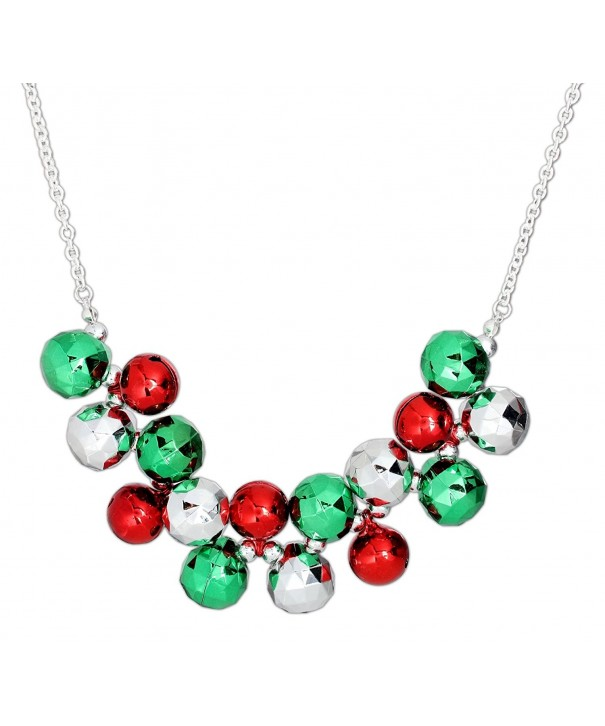 Periwinkle Chunky Green Jingle Necklace