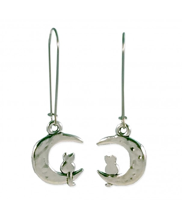 Sabai NYC Silver Crescent Earrings