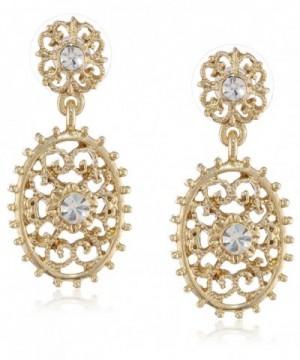 Downton Abbey Gold Tone Filigree Earrings
