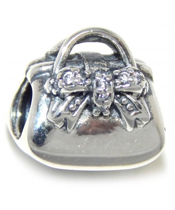 Sterling Silver Handbag European Bracelets