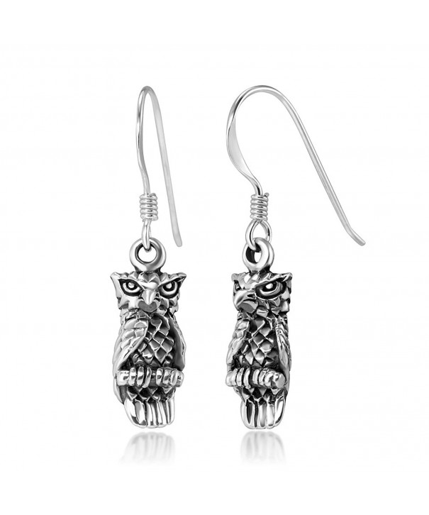 Stelring Silver Detailed Vintage Earrings
