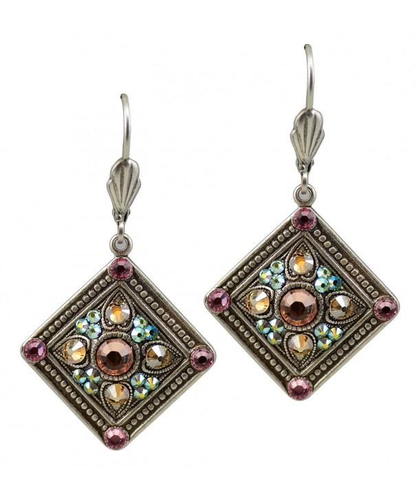 Anne Koplik Earrings Textured Swarovski