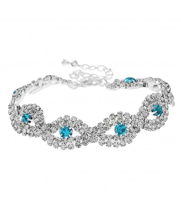 SUNSCSC Crystal Rhinestone Wedding Bracelet