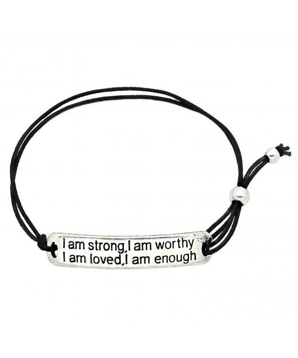Strong Worthy Inspirational Stretch Bracelet