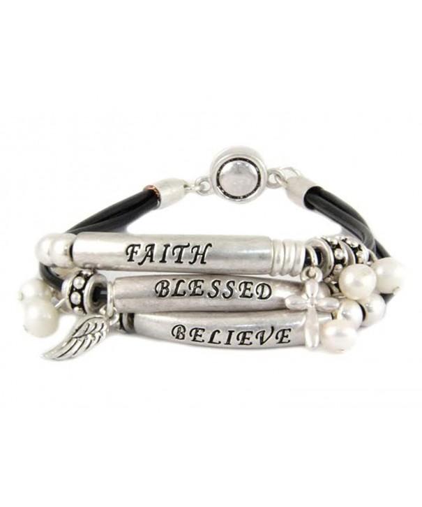 4030740 Believe Blessed Bracelet Knotted