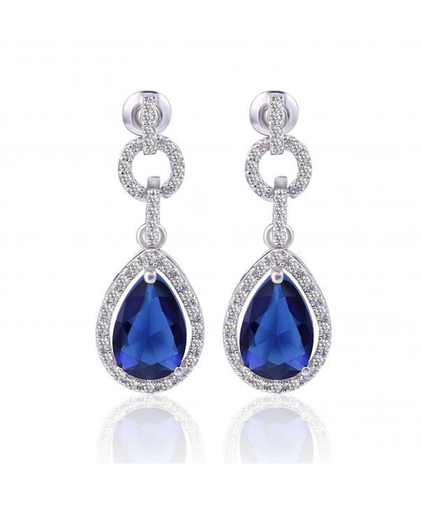 GULICX Flawless Zirconia Earrings Sapphire