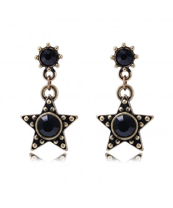Star Earrings Vintage Drop Sensitive
