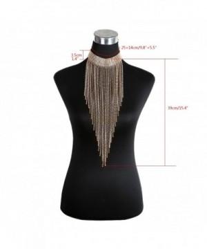 DOTASI Jewelry Rhinestone Collar Necklace