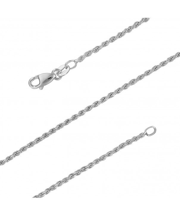 Sterling Silver Diamond Cut Necklace Nickel Free
