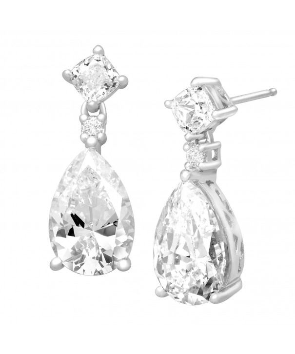 Earrings Pear Cut Swarovski Zirconia Sterling