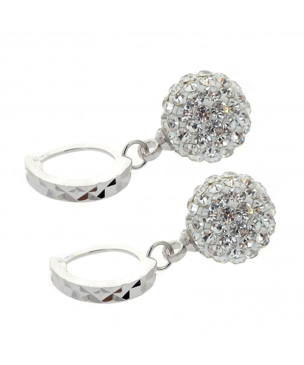 18K Gold Rhinestone Earrings Swarovski