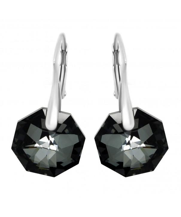 Royal Crystals Swarovski Leverback Earrings