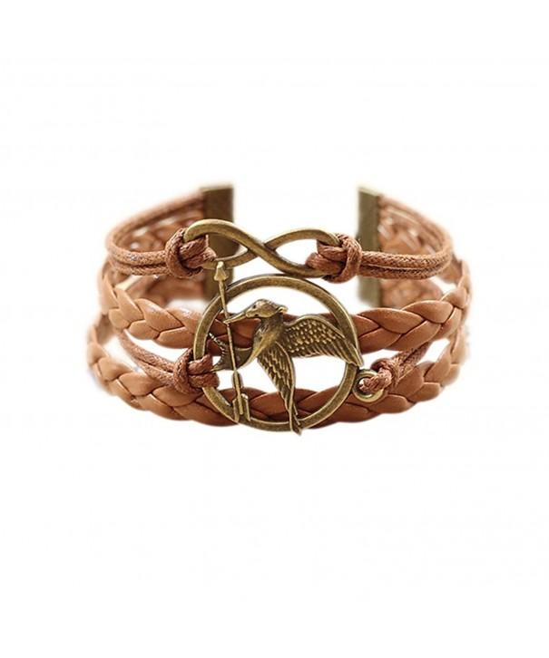 Birds Mockingjay Infinity Two Tone Bracelet