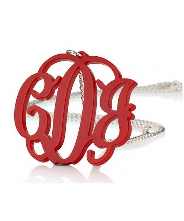 Acrylic 1 6 Monogram Necklace Chain Any