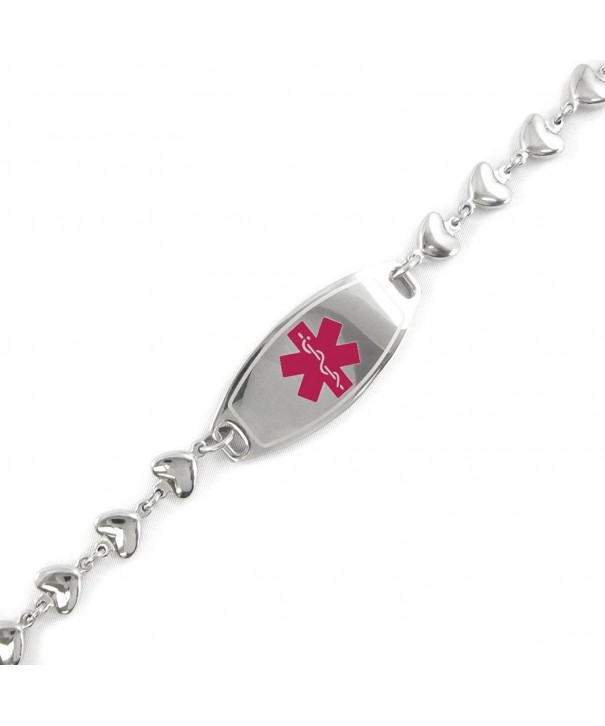 MyIDDr Pre Engraved Customizable Alzheimers Bracelet