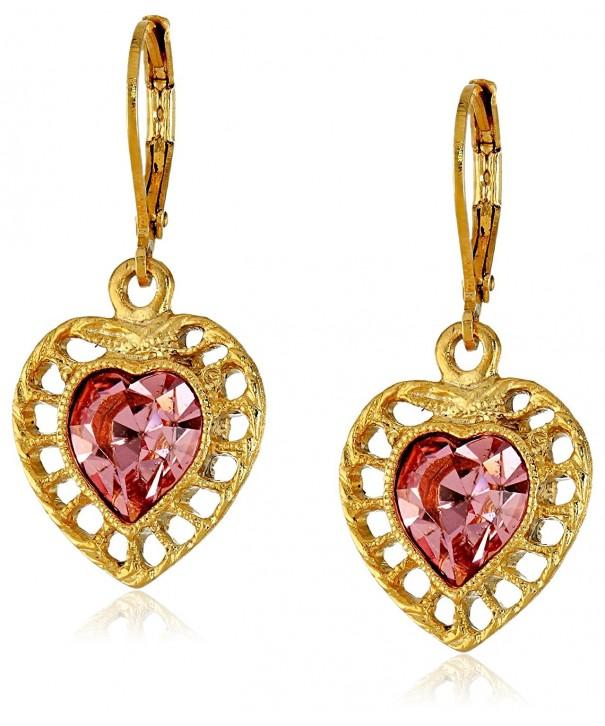 1928 Jewelry Gold Tone Swarovski Earrings