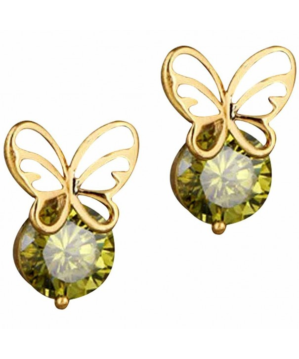 YAZILIND Charming Butterfly Zirconia Earrings