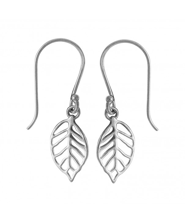 Boma Sterling Silver Leaf Earrings