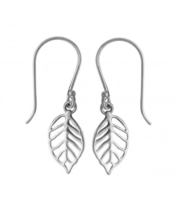 Boma Sterling Silver Leaf Earrings