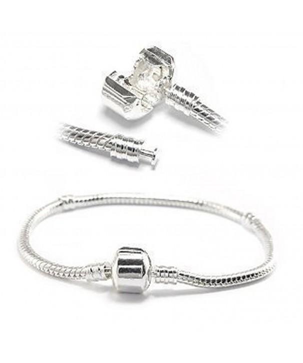 Silver Classic Barrel Bracelet Charms