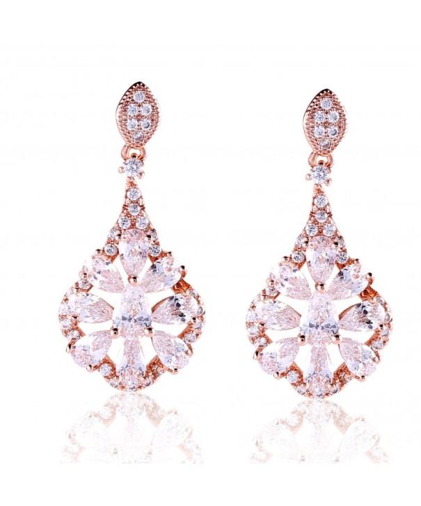 GULICX Womens Elegant Earrings Crystal