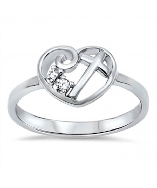 Heart Cubic Zirconia Sterling Silver