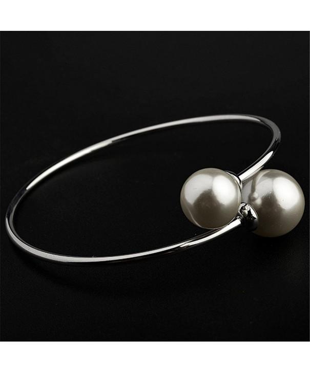 LovEnter White plated pearl bracelet