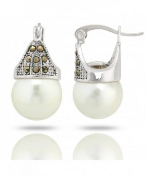 JanKuo Jewelry Simulated Marcasite Earrings