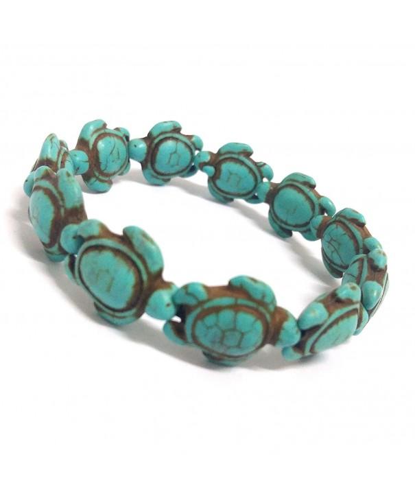 Nove Turquoise Handmade Turtles Bracelet
