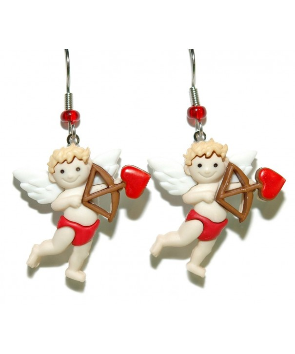 Adorable Cupid Valentines Dangle Earrings