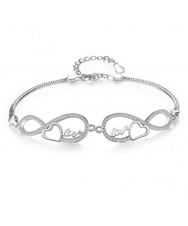 EVER FAITH Sterling Infinity Bracelet
