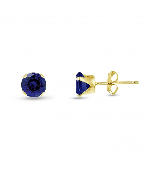 Sterling Simulated Sapphire Earrings included