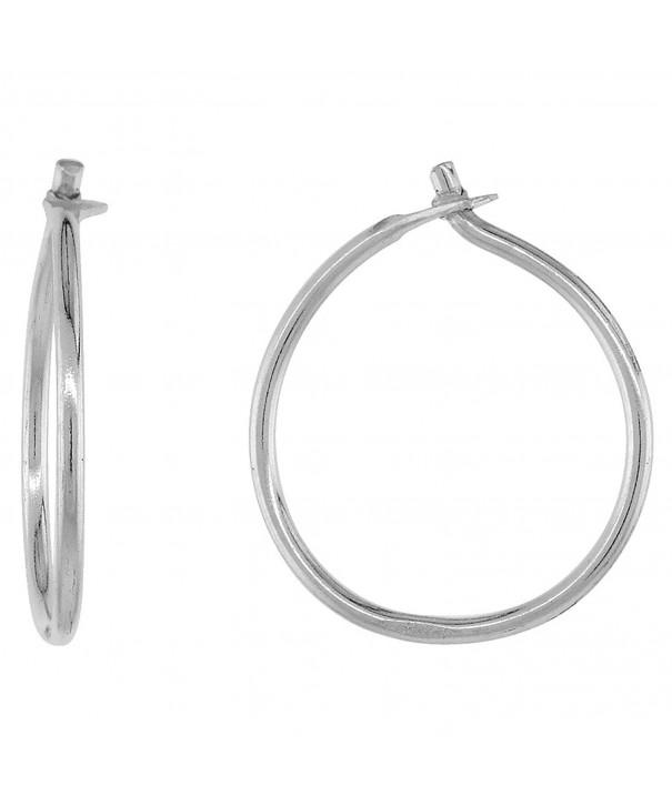 Sterling Silver Thin Earrings diameter