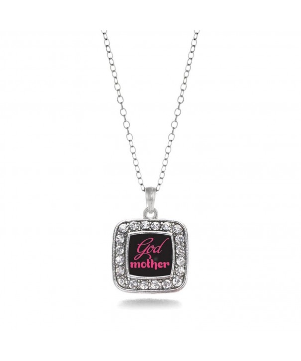 Godmother Classic Silver Crystal Necklace